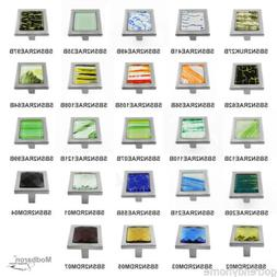 "1 3/8"" Modbaron Manor Crystal Glass Brushed Nickel Square Ca"