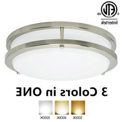 10 Inch Dimmable LED Flush Mount Ceiling Light Fixture Brush