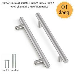 10Pack Brushed Nickel Cabinet Pulls Stainless Steel Drawer T