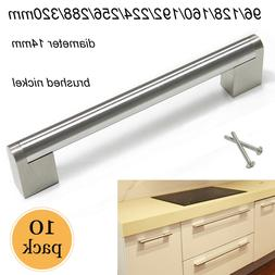 10PCS Brushed Nickel Kitchen Cabinet Pulls Stainless Steel B