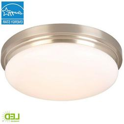 15 in. Brushed Nickel LED Flushmount with Frosted Glass Shad