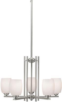 Kichler 1896NI Chandelier Lighting, Brushed Nickel 5-Light
