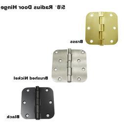 """3.5"""" Interior Cabinet Door Hinges 5/8"""" Radius Black/Brass/Ni"""