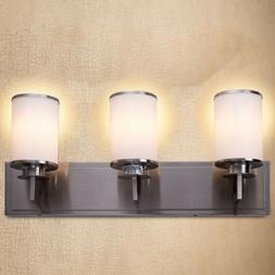 "Bathroom Vanity 23.5"" 3-Light LED Fixture Brushed Nickel Wal"