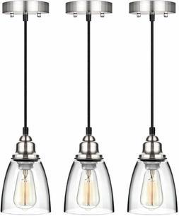 3 Pendant Lighting Kitchen Island Fixture Vintage Industrial