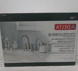 3-Piece Bathroom Countertop Brushed Nickel Soap Dispenser Ja
