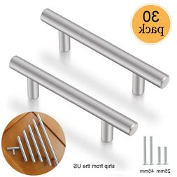 30Pack Brushed Nickel Cabinet Pulls Stainless Steel Drawer T