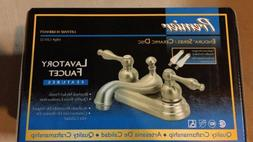 "Premier 4"" 2 Handle Centerset Bathroom Faucet, Brushed Nicke"