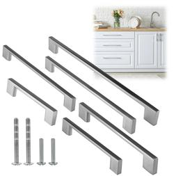 "4 3/4"" to 14"" Inch Rectangular Brushed Nickel Kitchen Cabine"