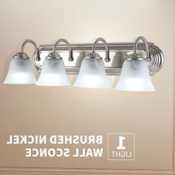 4 Light Brushed Nickel Bathroom Vanity Light Bath Fixture Al