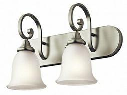 Kichler 45054NI Monroe Bath 2-Light, Brushed Nickel