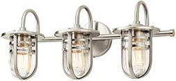 Kichler 45133NI Caparros 3-Light Bath in Brushed Nickel