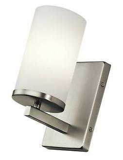 """Kichler 45495NI Crosby 9.25"""" Satin Etched Cased Wall Sconce"""