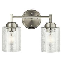 "Kichler 45885NI Winslow 2-Light 12.75""W Bathroom Vanity Ligh"