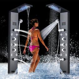 Shower Panel Tower System Column Spa LED Rain Waterfall Head