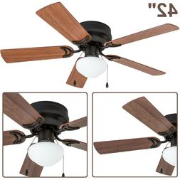 "42"" Ceiling Fan Indoor Cool Air Breeze Lamp 3 Speeds 5 Blade"