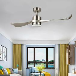 52-Inch Modern Ceiling Fan with Remote Low Profile 2-Blade A