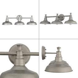 Design House 520312 Kimball 3 Light Vanity Light, Galvanized