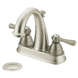 MOEN 6121BN Kingsley 4 in. 2-Handle High Arc Bathroom Faucet