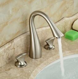 "8"" Bathroom Faucet Brushed Nickel Widespread Vessel Three Ho"