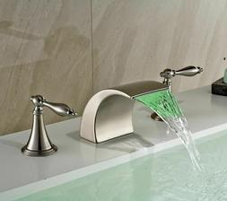 8-inch Widespread Dual Knob Waterfall Spout Bathtub Filler F