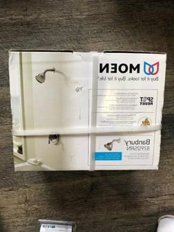 Moen 82912SRN Banbury 1-Handle 1-Spray Shower Faucet in Brus