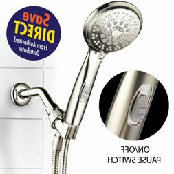 HotelSpa 9-Setting Ultra-Luxury Handheld Shower-head with Pa