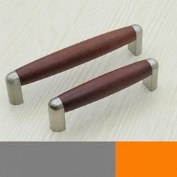 96mm 128mm modern fashion red wooden furniture handles stain
