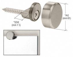 CRL Brushed Nickel Round Mirror Clips - Set