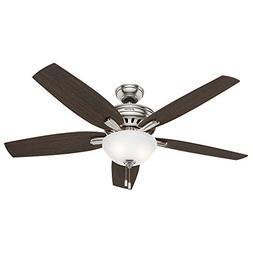 """Hunter Fan Company 54162 Newsome Ceiling Fan With Light 56"""""""