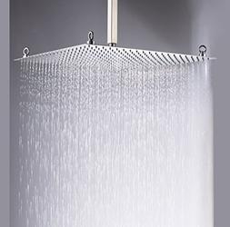 Rozin Bathroom 20 Inches Rain Shower Head Chrome Brass Ultra