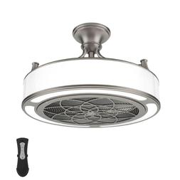 Anderson 22 in. LED Indoor/Outdoor Brushed Nickel Ceiling Fa