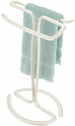 InterDesign Axis Fingertip Towel Holder, Pearl White