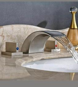 bathroom basin faucet widespread waterfall spout mixer