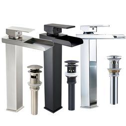 Bathroom Basin Vessel Sink Faucet Waterfall Oil Rubbed Bronz