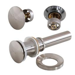 ELITE New Design Bathroom Brushed Nickel Pop-Up Drain and Mo