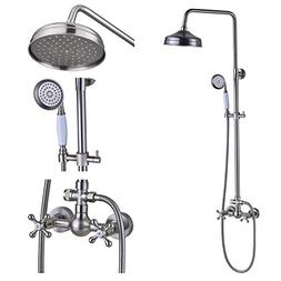Rozin Bathroom Dual Knobs Mixing Shower Faucet Set 8-inch To