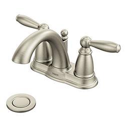 """Moen Bathroom Faucet, Brantford TwoHandle 4"""" w/ Metal Waste"""