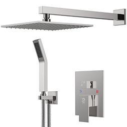 SR SUN RISE Brass Shower System 10 Inch Bathroom Luxury Rain