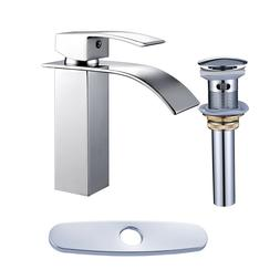 Bathroom Sink Basin Faucet  Mixer Tap Chrome Finish Waterfal