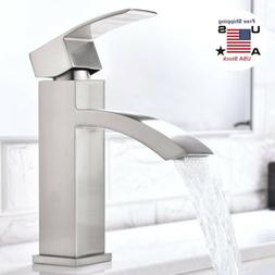 Bathroom Sink Faucet Waterfall Spout Basin Tap Single Handle
