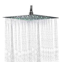 Rozin Bathroom 10-inch Square Rainfall Shower Head Ultrathin