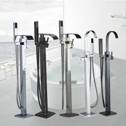 Barthroom Tub Filler Faucet Floor Mounted Bathtub Shower Fau