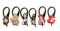 APSILON Black Rubber String Zipper Pulls - Disney Princess #