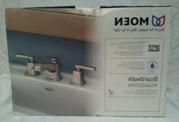 MOEN Boardwalk Brushed Nickel Widespread Bathroom Faucet w/