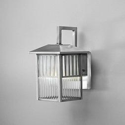 Brushed Nickel 1-light Outdoor Wall Light Fixture, Bring Lig