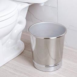 Brushed Nickel Bathroom Trash Can Or Small Waste Basket For