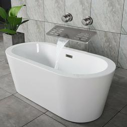 Brushed Nickel Bathtub Faucet Shelf Function Wall Mount Swiv