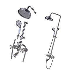 Rozin Brushed Nickel Bathtub Shower Faucet System 8-inch Rai
