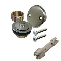 Brushed Nickel Bathtub Tub Drain Assembly Bath Area Shower O